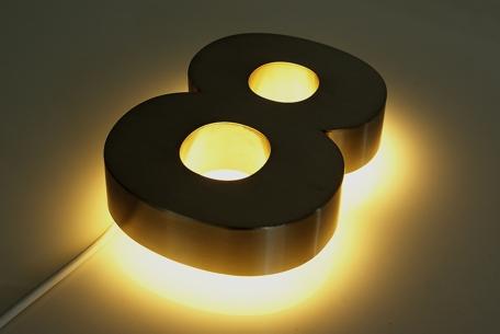 Hausnummern aus Edelstahl mit LED online kaufen